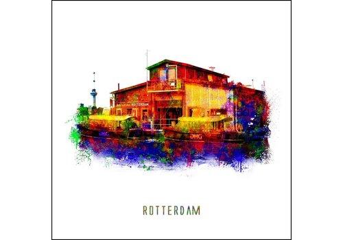 Ben Kleyn Rotterdam poster | Watertaxi | Pop art poster | 30x30