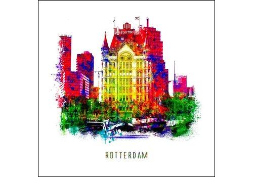 Ben Kleyn Rotterdam poster | Witte huis | Pop art poster | 30x30