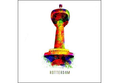 Ben Kleyn Rotterdam poster | Euromast 2 | Pop art poster | 30x30