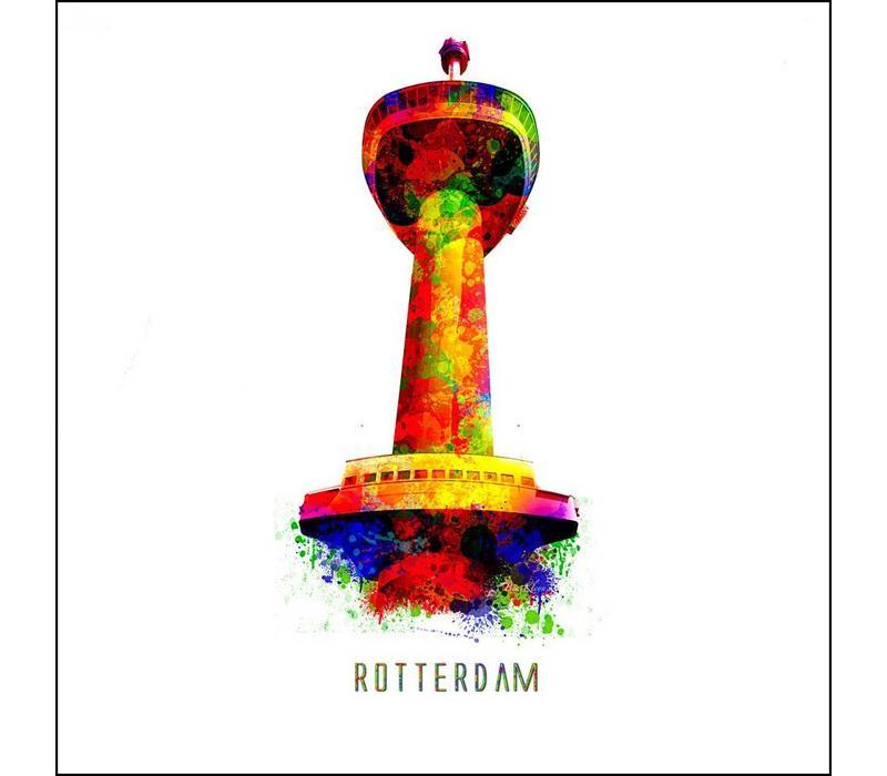 Rotterdam poster | Euromast 2 | Pop art poster | 30x30