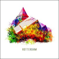 Rotterdam poster | Kubuswoningen | Pop art poster | 30x30