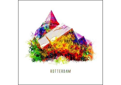Ben Kleyn Rotterdam poster | Kubuswoningen | Pop art poster | 30x30