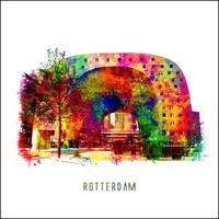 Rotterdam poster | Markthal | Pop art poster | 30x30