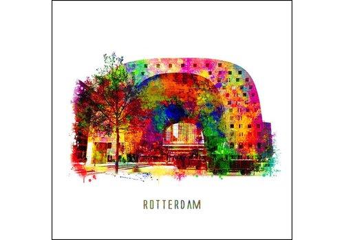 Ben Kleyn Rotterdam poster | Markthal | Pop art poster | 30x30