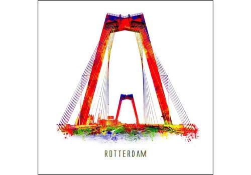 Willemsbrug 2 - Pop art poster 30x30
