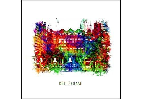 Ben Kleyn Rotterdam poster | Hotel New York | Pop art poster | 30x30