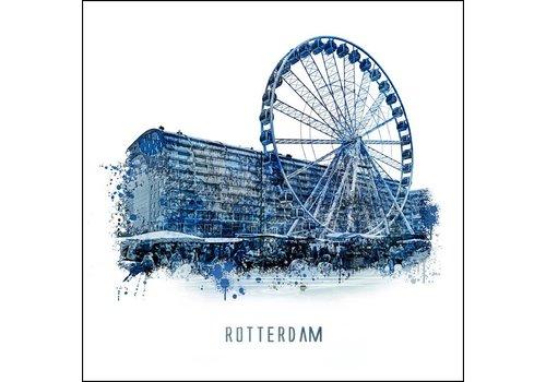 Ben Kleyn Markthal - Delftsblauw poster 30x30