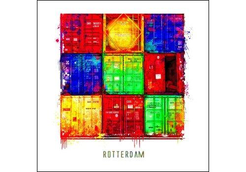 Ben Kleyn Rotterdam poster | Container | Pop art poster | 30x30