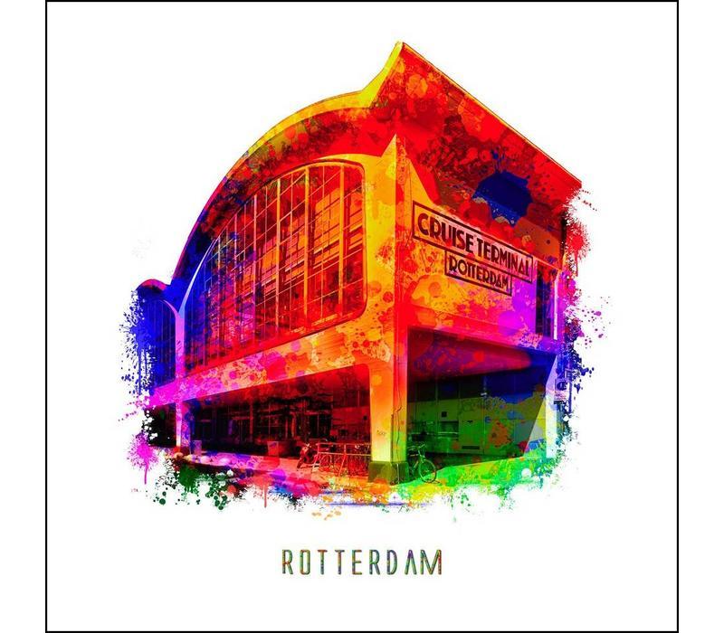 Rotterdam poster | Cruise Terminal | Pop art poster | 30x30