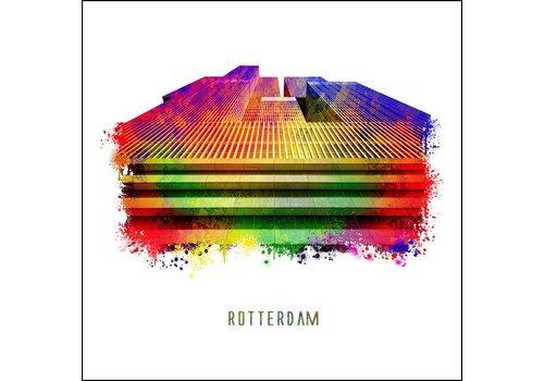 Ben Kleyn Rotterdam poster | De Rotterdam | Pop art poster | 30x30