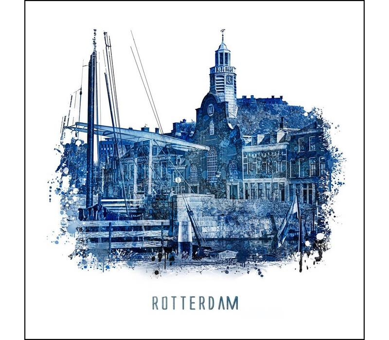 Delfshaven - Delfts blauw poster 30x30