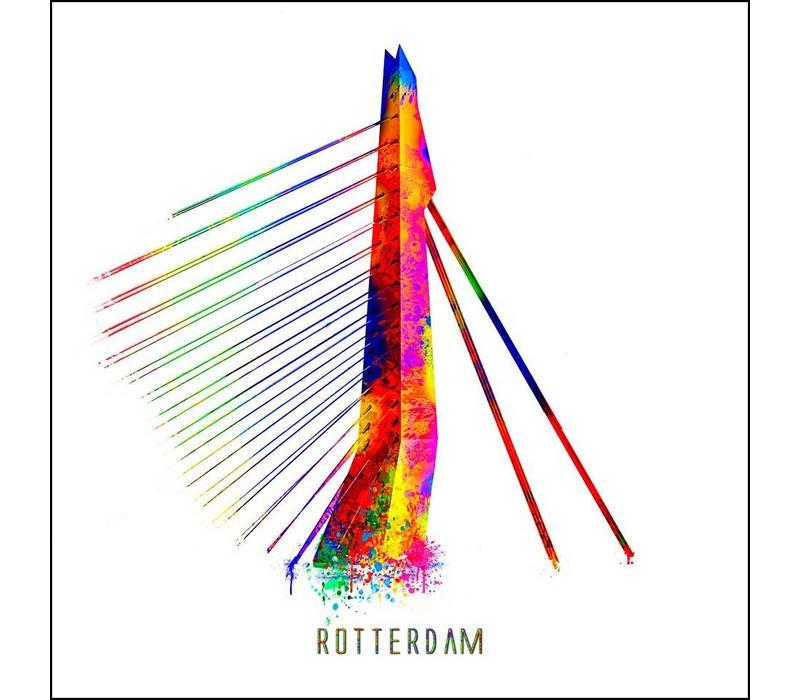 Rotterdam poster | Erasmusbrug | Pop art poster | 30x30