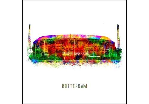 Ben Kleyn Rotterdam poster | De Kuip | Pop art poster | 30x30