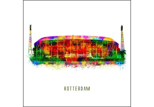 De Kuip - Pop art poster 30x30