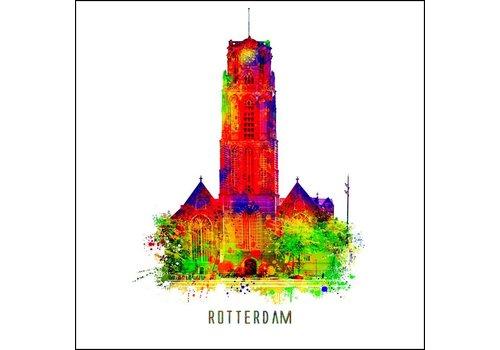 Ben Kleyn Rotterdam poster | Laurenskerk | Pop art poster | 30x30