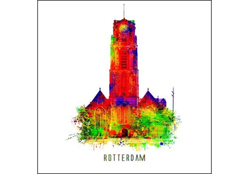 Laurenskerk - Pop art poster 30x30