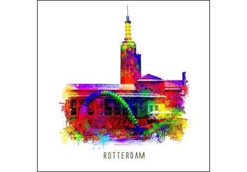 Ben Kleyn Rotterdam poster | Boijmans van Beuningen | Pop art poster | 30x30