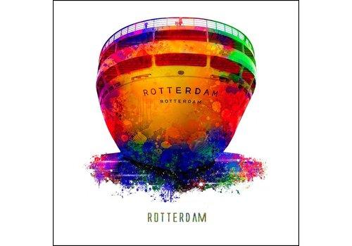 SS Rotterdam - Pop art poster 30x30