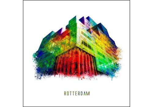 Ben Kleyn Rotterdam poster | Timmerhuis | Pop art poster | 30x30