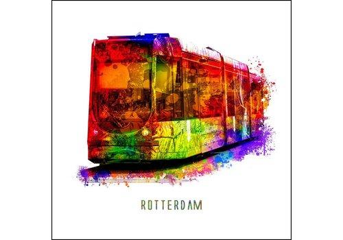 Tram - Pop art poster 30x30