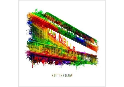 Ben Kleyn Rotterdam poster | Van Nelle Fabriek | Pop art poster | 30x30