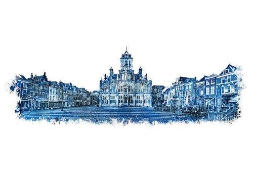 Ben Kleyn Panorama Markt Delft