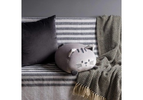 Balvi Cushion Sweet Kitty grijs
