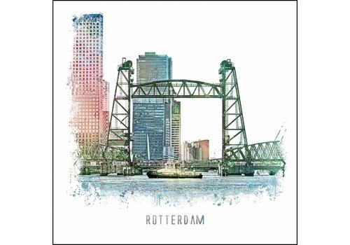 Ben Kleyn Rotterdam poster | De Hef | vintage poster | 30x30