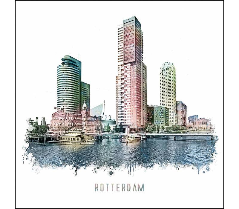 Rotterdam poster | Kop van Zuid | vintage poster | 30x30