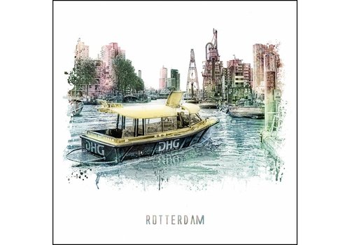 Watertaxi - vintage poster 30x30