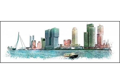 Ben Kleyn Rotterdam skyline Vintage