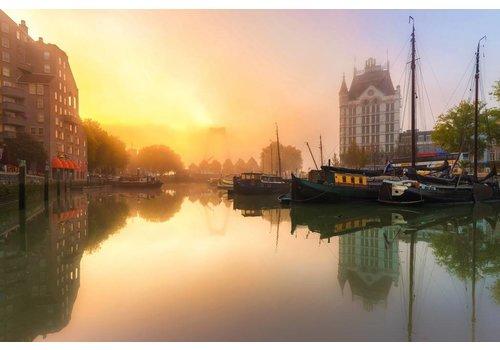 Prachtig Rotterdam Oude Haven in de mist