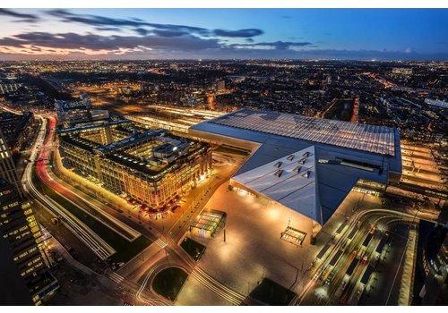 Prachtig Rotterdam Centraal Station van boven