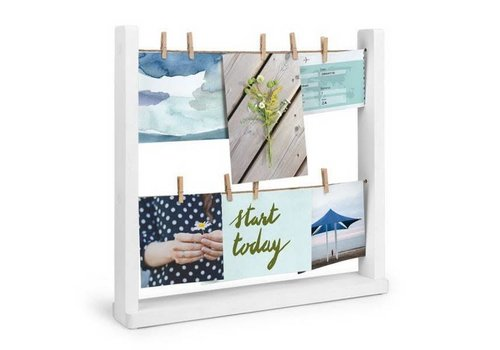 Hangit desk photo display white