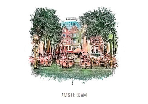 Amsterdam Leidseplein – vintage 30x30