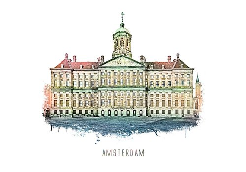 Amsterdam Paleis – vintage 30x30