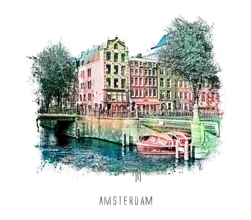 Amsterdam Prinsengracht 2 – vintage 30x30