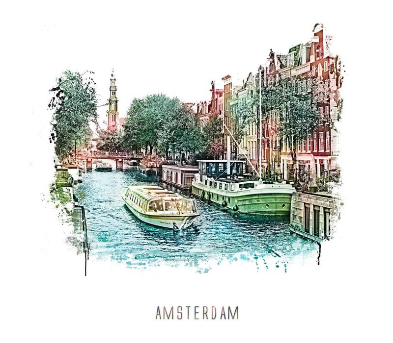 Amsterdam Prinsengracht 3 – vintage 30x30