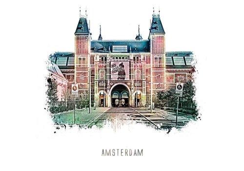 Ben Kleyn Amsterdam poster | Rijksmuseum | vintage | 30x30