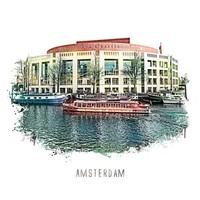 Amsterdam poster | Stopera | vintage | 30x30