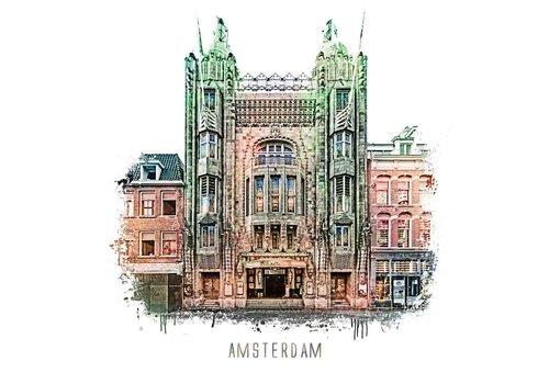 Ben Kleyn Amsterdam poster | Tuschinski | vintage | 30x30