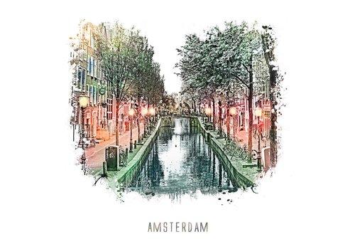Ben Kleyn Amsterdam poster | Wallen | vintage | 30x30