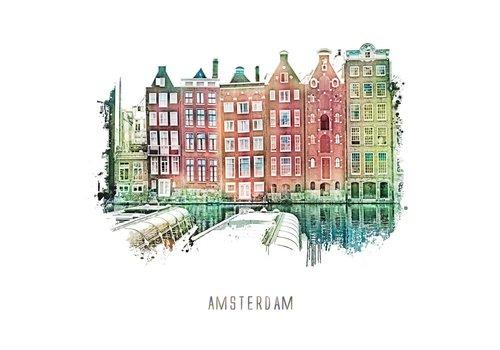 Ben Kleyn Amsterdam poster | | vintage | 30x30