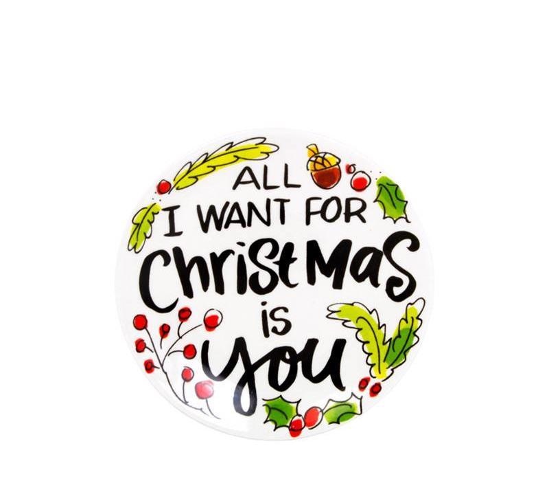 Kerst schaaltje petit-fours Merry little