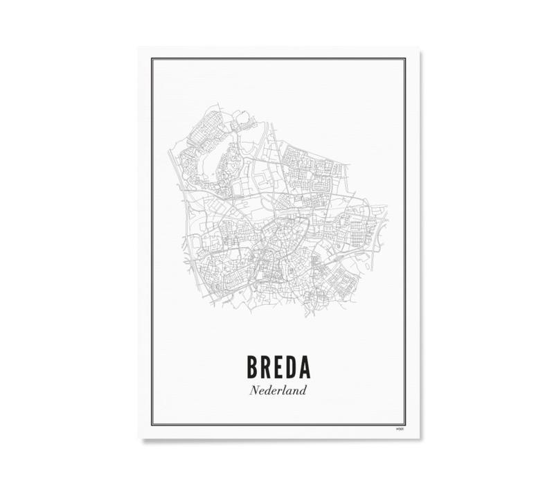 A4 Poster Breda stad