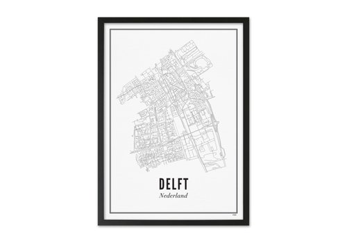 Wijck Poster A4 - Delft stad