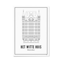 Poster A4 - Rotterdam Witte huis