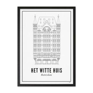 Wijck Poster A4 - Rotterdam Witte huis