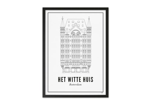 Wijck Poster A4 - Rotterdam Witte huis