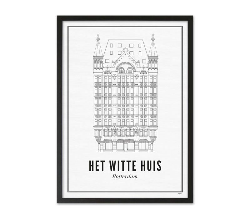A4 Poster Rotterdam Witte huis